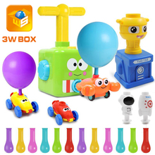 3WBOX Power Balloon Launch Tower Toy Puzzle Fun Education Inertia Air Power Balloon Car Science Experimen Toy for Children Gift