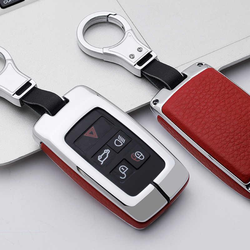 באיכות גבוהה רכב מפתח מקרה מחזיק Keychain לנד רובר ריינג 'רובר גילוי 5 ספורט 2018 2019 עבור יגואר XEL e-PACE 2019