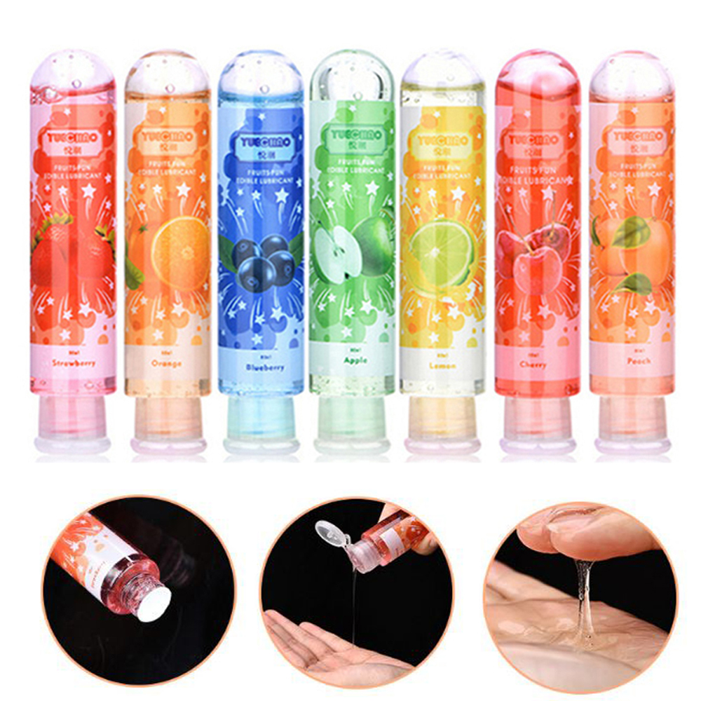80ml Fruit Flavor Sexual Lubricant Orgasm Body Massage Oil Lube Anal Water Soluble Lubricants Seven Flavors Body Massage Oil