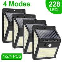 Luz Solar LED para exteriores, lámpara con Sensor de movimiento PIR, impermeable, para decoración de jardín, 228, 144