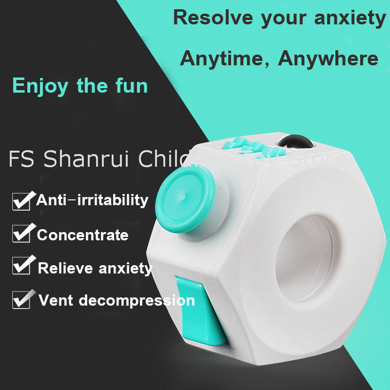 hot famous ABS Fidget Rings anti-stress anxiety depression stress relief cube and toys for kids
