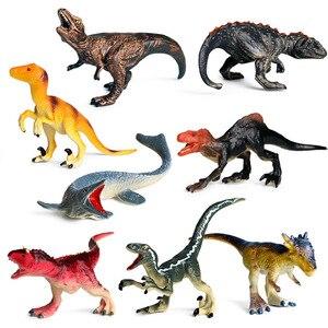 Детский симулятор динозавра тираннозавра игрушка бык Дракон опухшая голова Дракон Твердый Пластик Животное Динозавр набор украшение