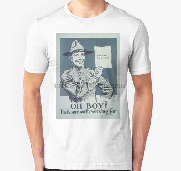 Hommes t-shirt à manches courtes Vintage affiche Honorable décharge unisexe t-shirt un cou femmes t-shirt