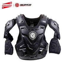 SCOYCO Motorcycle Armor Motocross Chest Back Protection Vest Motorcycle Jacket Racing Motos Protective Gear Body Armor CE New scoyco am05 racing motorcycle body armor protector black size m