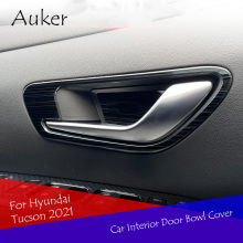 Car Interior Door Bowl Cover Trim Decal Trim Car Styling Stainless Steel 4pcs/Set For Hyundai Tucson 2021 Accessories