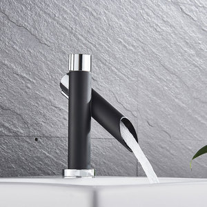 Image 5 - Suguword Chrome With Black Basin Sink Faucet  Hot & Cold Mixer Tap single Handle One Hole Bathroom Faucet Small Faucet Child New