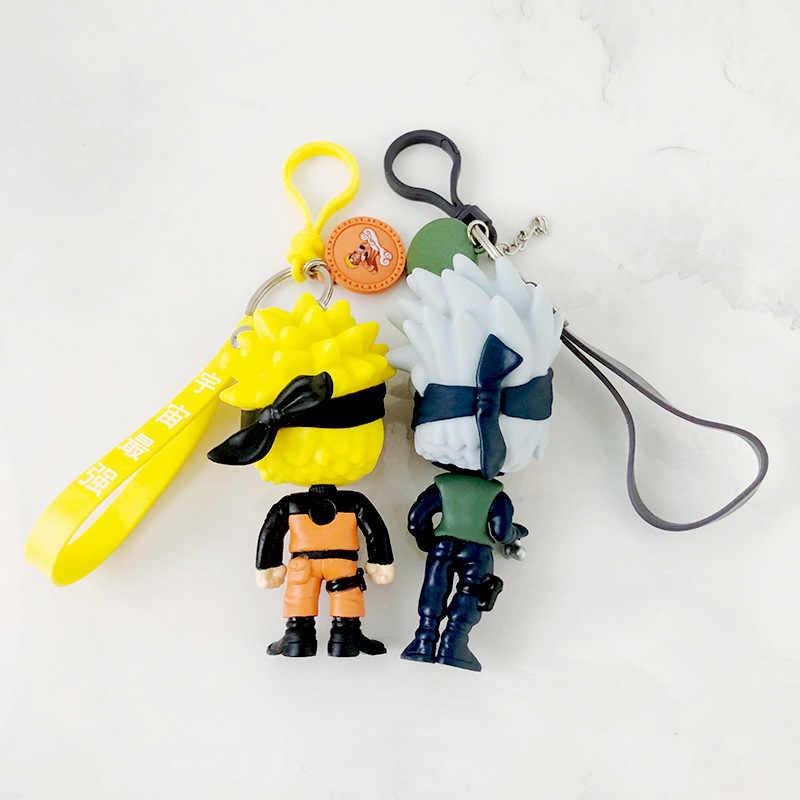 Hot 3D Anime Portachiavi Portachiavi Portachiavi Naruto Figure Kakashi Naruto Bambola catena Chiave del Sacchetto Dell'automobile Pendenti e Ciondoli Pendente per Regalo Cosplay