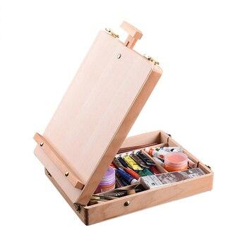 حامل خشبي للرسم رسم الحامل طاولة رسم صندوق النفط الطلاء ملحقات للكمبيوتر المحمول اللوحة الفن لوازم للأطفال الفنان