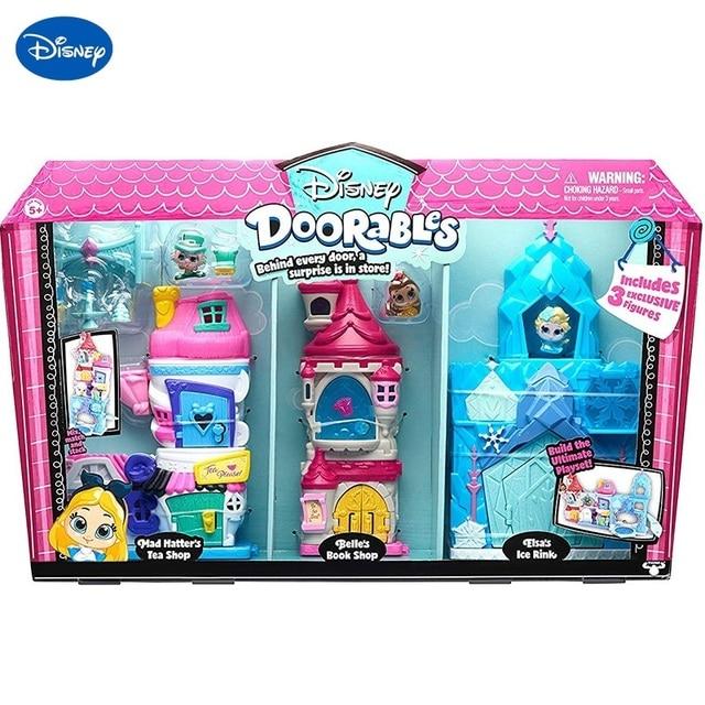 Disney Doorables Frozen Elsa Snow White Belle Princess Castle Luxury Fairytale House Q Dollhouse Kids Toys Girls Christmas Gift 1
