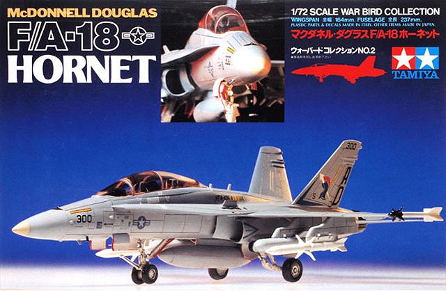 TAMIYA 60702 1/72 McDonnel Douglas F/A-18 Hornet Fighter AIRCRAFT Display Collectible Toy Plastic Assembly Building Model Kit