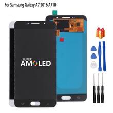 AMOLED ЖК-дисплей для samsung Galaxy A7, сенсорный ЖК-дисплей для samsung Galaxy A7100 A710F A710, дигитайзер сенсорного экрана