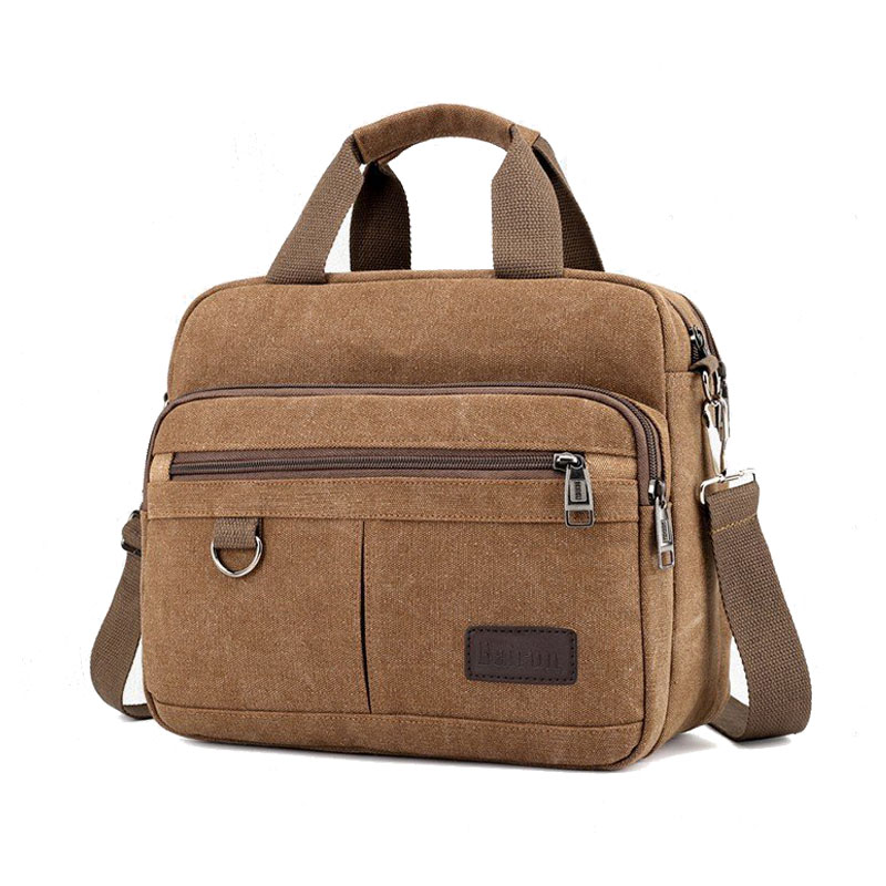 Image 5 - Mens handbag casual multi function shoulder bag briefcase Messenger bag   Casual ToteTop-Handle Bags   -