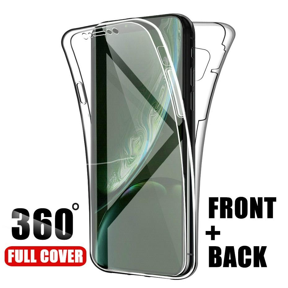 360 dupla Caso de Telefone de Silicone Para Samsung Galaxy S20 Ultra S10 S9 S8 Plus S7 Borda A51 A71 Nota 10 Pro 9 8 5 A10 A30 A40 A50 A70