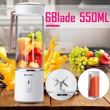AUGIENB 500 мл электрическая соковыжималка для фруктов Стекло Мини Ручной Портативный смузи мейкер блендер смеситель USB Перезаряжаемые