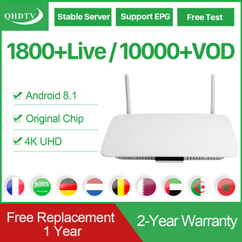 QHDTV IPTV Subscription France Arabic Leadcool Q1404 Android 8.1 Rk3229 IP TV Germany Belgium Dutch French IPTV Subscription