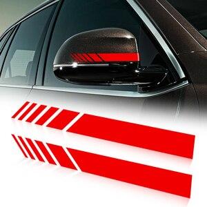 Car Sticker Rearview Mirror Side Decal Stripe Vinyl For Daewoo Winstorm Nubira Sens Tosca Matiz Nexia(China)