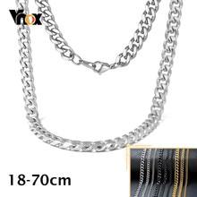 Vnox 3-11mm collana da uomo con cordolo a catena maglie da polso in acciaio inossidabile Rock Miami cordolo Figaro Unisex donna ragazza ragazzi gioielli classici