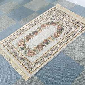 Image 5 - 100*70cm Muslim Prayer Mat Prayer Rug Portable Braided Mats Chenille Cotton Yarn In Pouch Travel Home New Style Mat Blanket