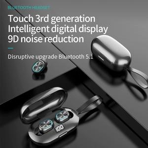 Auriculares Bluetooth V5.1 auriculares inalámbricos auriculares para videojuegos auriculares con doble llamada HD 9D estéreo con cancelación de ruido IPX5 a prueba de agua