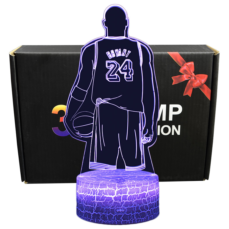 Diversion 3D Illusion Kobe Bryant Sleeping Light Kids Room Projection Lamp Best Gifts For Kobe Bryant And LA Fans