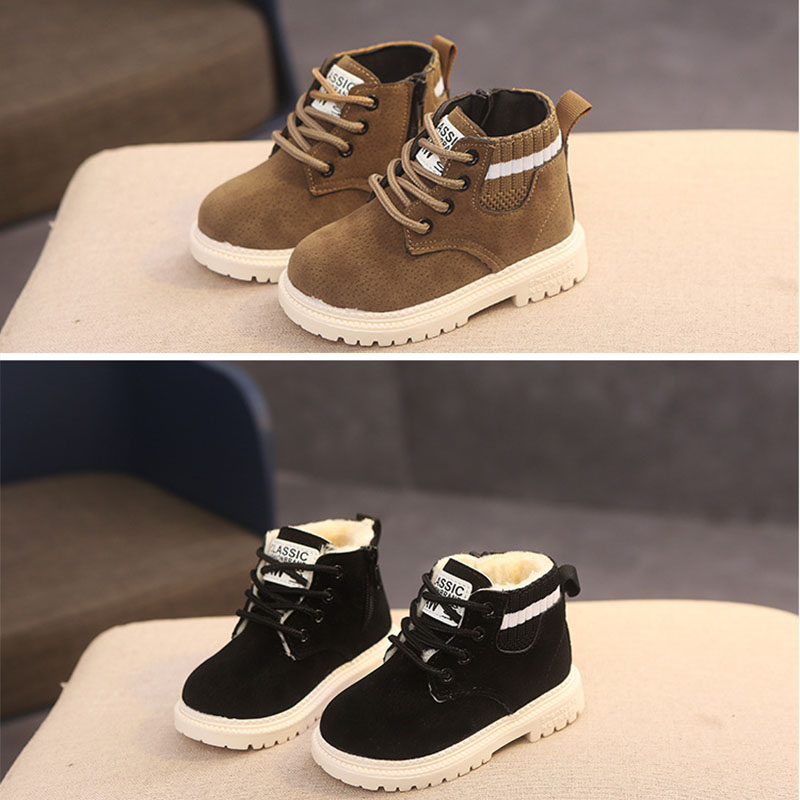 2 Style Inside Material Plush Kids Winter Boots Cotton Fabric Spring Autumn Children Shoes Baby Toddler Boys Girls Boots C10012