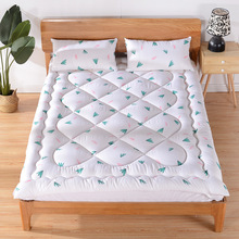Mattress topper only 100%Cotton Printed Quilted