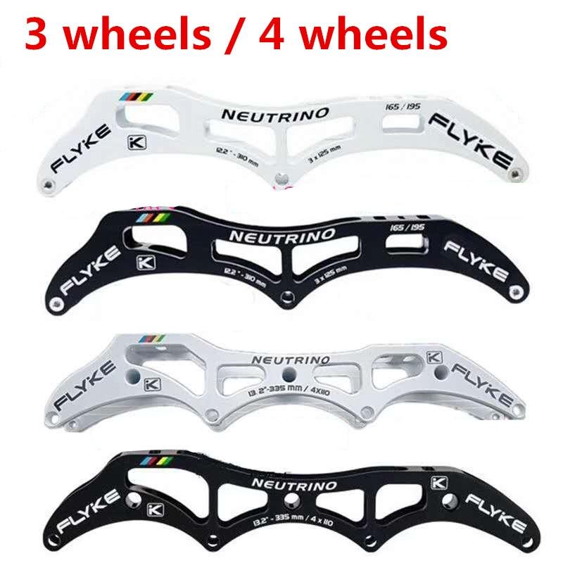 3X125mm 12.2 ''125mm Marathon 3 roues patins de vitesse en ligne cadre 4X110mm 13.2'' 110mm piste 4 roues FlYKE NEUTRINO 165mm 195mm