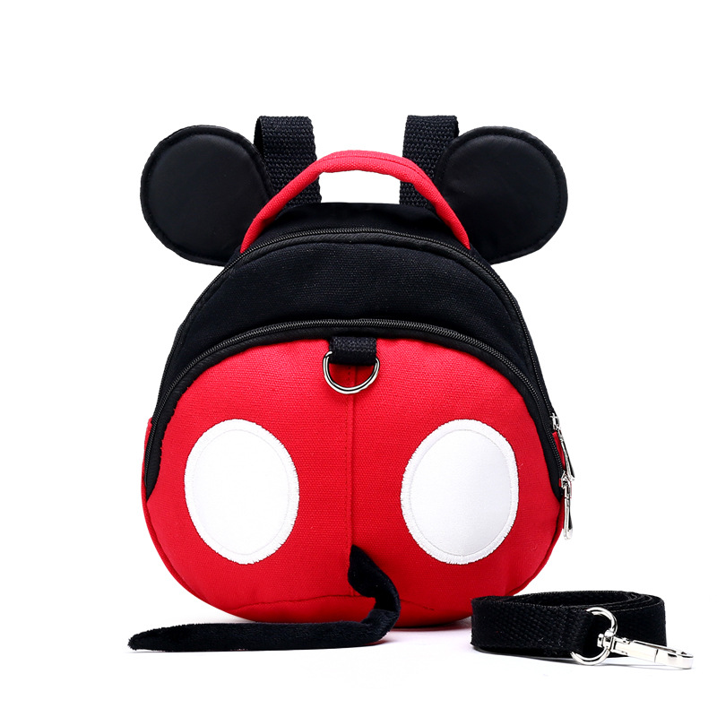 Cute Mouse Baby Harness Backpack Children's Backpack With Belt New Anti-Lost Kids Adjustable Baby Walking Wings Free Shipping