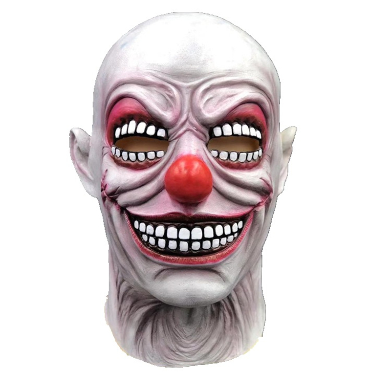 New Clown Mask Scary Killer Clown Mask Halloween Terror Joker Movie Payday Full Face Latex Mask Props image
