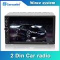 Carsanbo 2 Din 7 дюймов Автомобильный Радио сенсорный экран стерео Мультимедийный плеер MP5 Зеркало Ссылка Android/IOS Bluetooth FM SD USB AUX вход