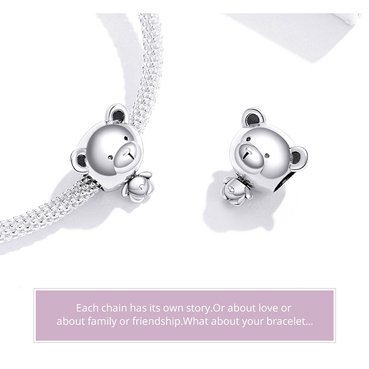Bear Toy Beads for Women Jewelry Making 925 Sterling Silver Fashion DIY Jewelry Charm for Original Bracelet