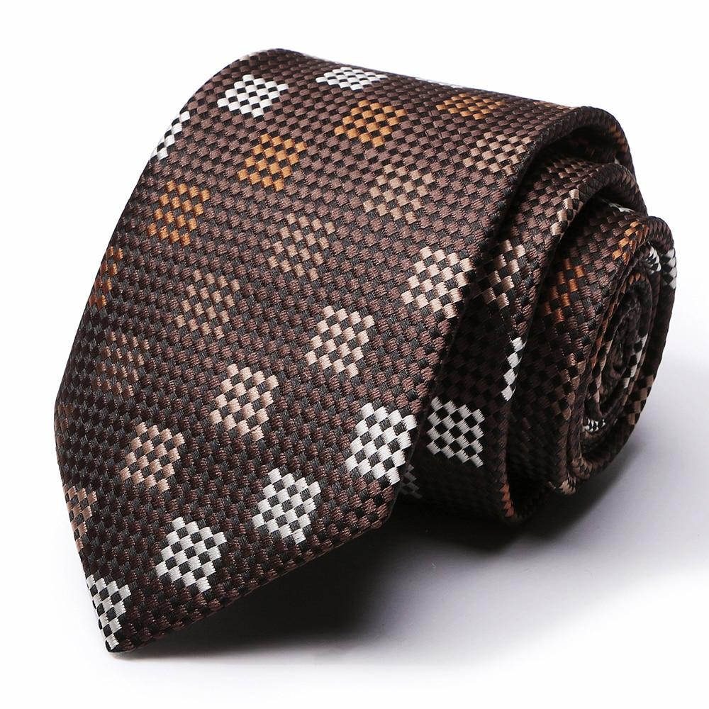 64 Colors New Style Mens Classic Ties Blue Luxury Fashion Lattice Neckties Tie Business Wedding Necktie For Men Accessories