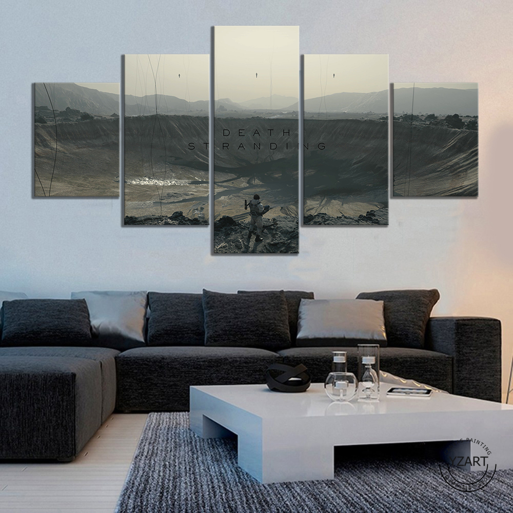Death Stranding  HD Fantasy Art Wall Pictures Shooting Games Artwork Canvas Paintings for Home Decor Wall Art 1