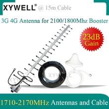 3g 4g antena conjunto 1710-2170mhz para 4g gsm 1800 repetidor 3g wcdma 2100 sinal solução telefones celulares amplificador de reforço de sinal