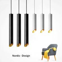 Nordic Modern loft hanging Pendant Lamp Fixtures Dimmable LED Pendant lights for Kitchen Bar living room Hanging Lamps