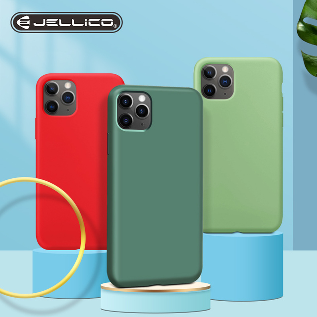Jellico Liquid Silicone Soft Phone Case For iPhone 11 Pro Max Luxury Back Cover  For iPhone 11 Full Protective Original Cases