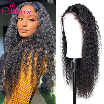 Shireen Kinky Curly Remy 28 30 Inch Brazilian Human Hair Wigs 4x4 Lace Closure Wigs Pre Plucked With Baby Hair For Black Women
