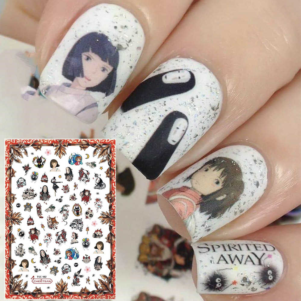 Tsc Serie Ghibli TSC-182 Cartoon 3d Nail Art Stickers Decal Template Diy Nail Tool Decoraties