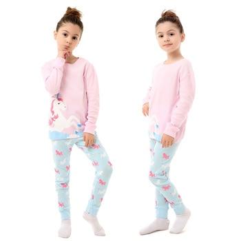 100 Cotton Boys and Girls Long Sleeve Pajamas Sets Children's Sleepwear Kids Christmas Pijamas Infantil Homewear Nightwear - PA14, 4