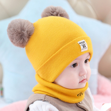 Get more info on the Children Hats Cartoon Logo Winter Scarf Set Head Cap Keep Warm Thickening Earmuffs Baotou Down Down Defence A Hood