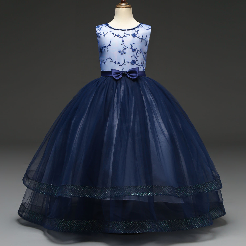 2019 CHILDREN'S Dress Princess Dress Long Girls Gauze Puffy Long Skirts Flower Boys/Flower Girls Wedding Dress INS Childrenswear