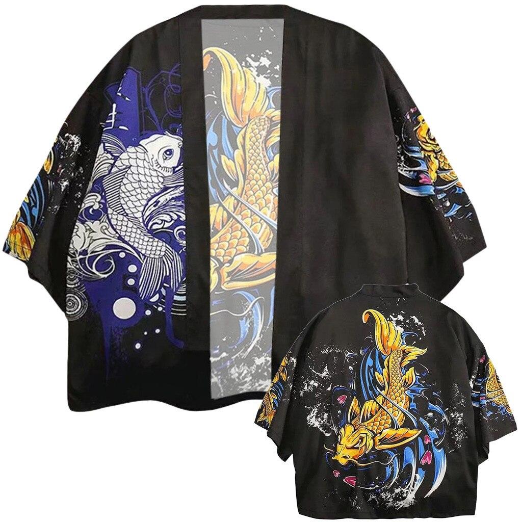 Japanese Style Kimono Haori Men Women Traditional Japanese Clothing Asian Clothes Apr12