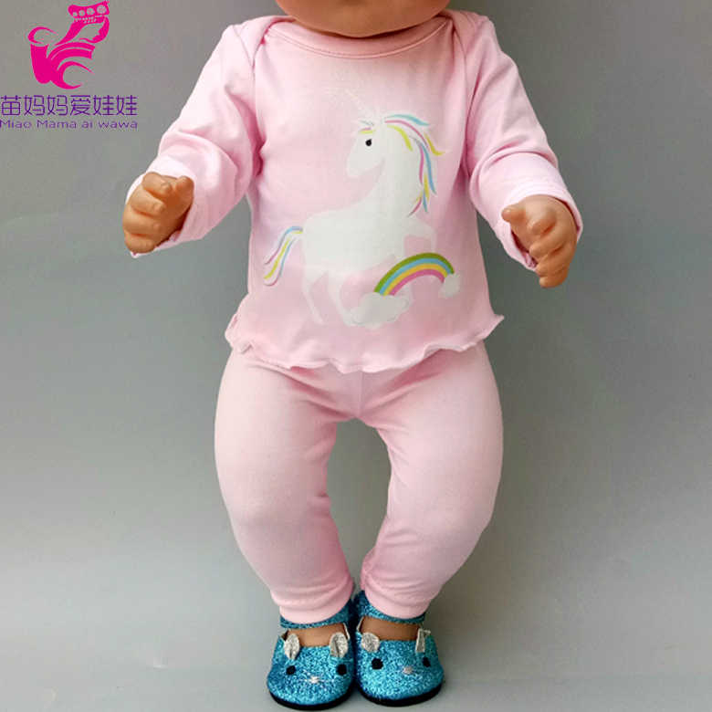 Baby Doll Winter Fleece Clothes and Black Pants for 18 Inch Doll Clothes Outfit Children Girl Gifts