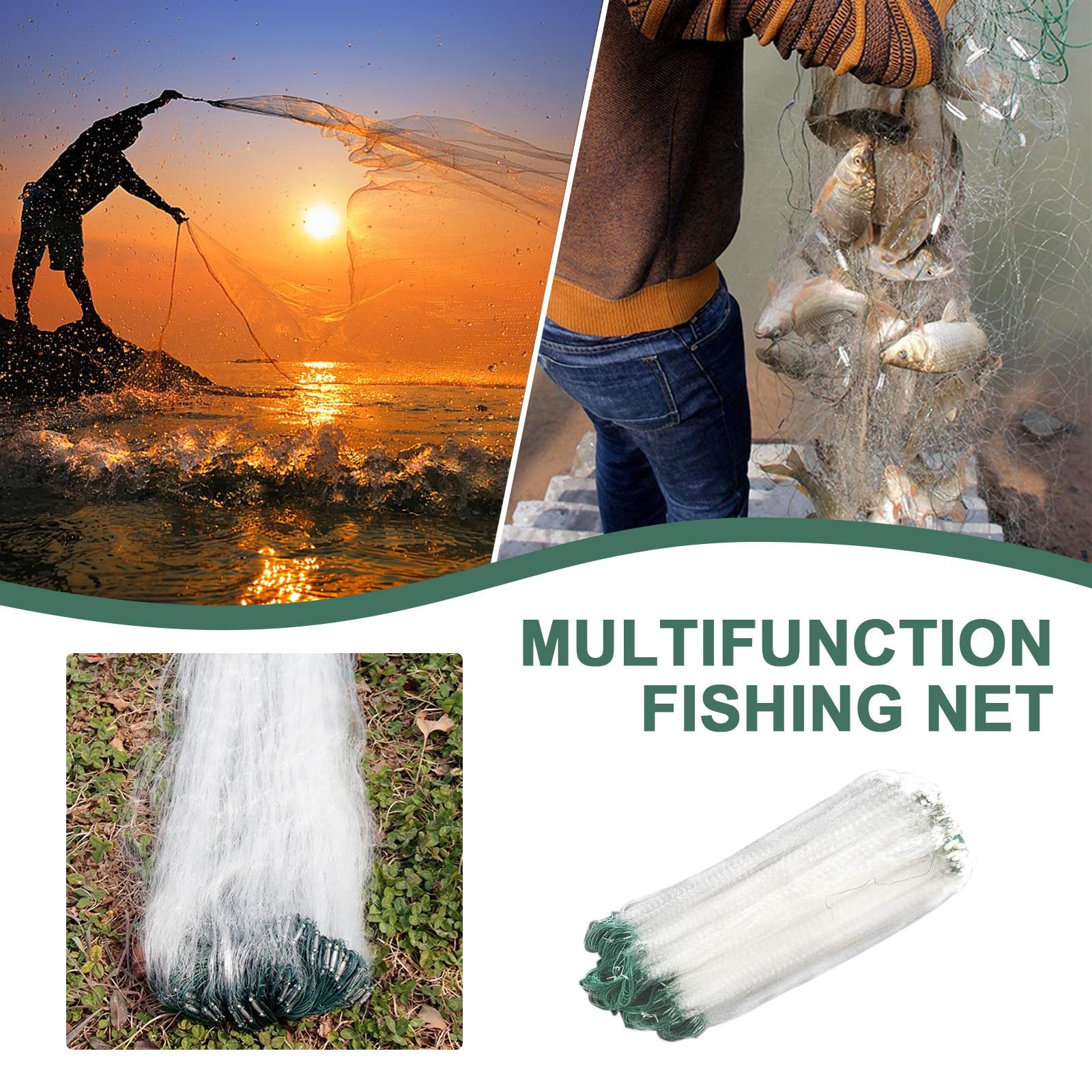 Fishing Net Single Mesh Nylon Durable Accessories Float Trap Monofilament Gil F1 for sale online