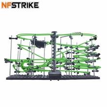 Espaço ferroviário nível 1/2/3/4 diy brinquedos educativos para crianças menino física espaço bola rollercoaster powered elevador modelo kits de construção