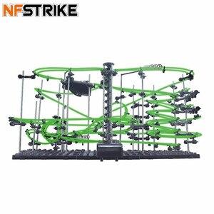 Image 1 - Espaço ferroviário nível 1/2/3/4 diy brinquedos educativos para crianças menino física espaço bola rollercoaster powered elevador modelo kits de construção