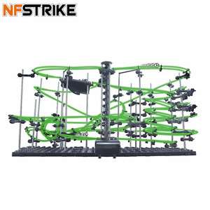 Image 1 - Space Rail Level 1/2/3/4 DIY Educational Toys for kids boy Physics Space Ball Rollercoaster Powered Elevator Model Building Kits