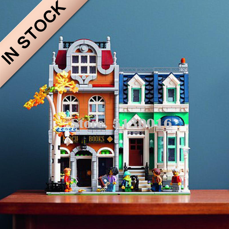 In Stock 10201 European Style Bookshop Street View 10270 Creator City 2524PCS Ideas Model Building Blocks Bricks Toys