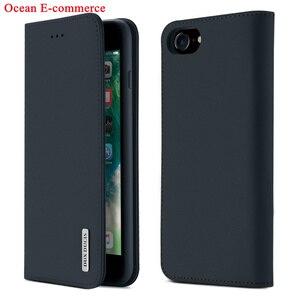Image 2 - Mode véritable étui en cuir véritable pour Apple iPhone SE 2020 Original DUX DUCIS portefeuille daffaires couverture rabattable pour iPhone SE 2020 étui