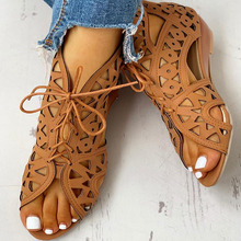 Hollow Out Women Gladiator Sandals Vintage Lace Up Low Heel Wedges Summer Shoes For Woman Open Toe Zipper Zapatos Mujer 2017 new mixed colors leather gladiator women sandals open toe shoes women summer shoes high heel hollow out lace up sandals